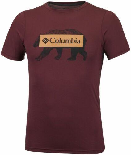 COLUMBIA Box Logo Bear EM0745615 Laufshirt Training T-Shirt Kurzarm Herren Neu