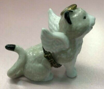 Midwest of Cannon FallsCAT ANGEL Porcelain Hinged Box *NEW* PHB RARE CUTE USA