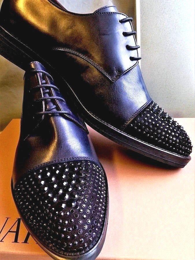WOW  Damen Damens PIU Schnür Schuhe Halbschuhe ERIKA NEU schwarz Leder Gr 41 NEU ERIKA W12 03243c