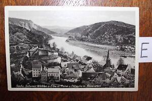 Logique Carte Postale Vue Carte Saxe Sächs Suisse Wehlen Elbe M Ruine Pötzschau-afficher Le Titre D'origine