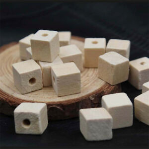 10-20-50x-Square-Cube-Wood-Spacer-Beads-Natural-Wooden-Geometric-Crafts-12-25mm