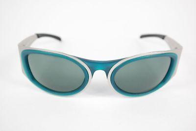 Chiemsee Vintage Ch024 55 [] Argento 14 Ovale Occhiali Da Sole Sunglasses Nos- Giada Bianca