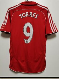 SIZE S LIVERPOOL 2006-2008 HOME FOOTBALL SHIRT JERSEY TORRES #9