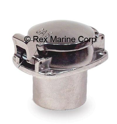 Polished Aluminum Flip Top Gas Cap Fuel Fill Boats Rods - LOT of 2 Caps
