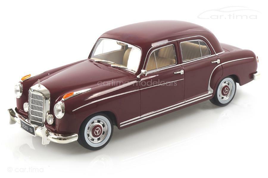 Mercedes-benz 220 s sedán 1954-rojo oscuro-KK scale 1 18 - kkdc 180322