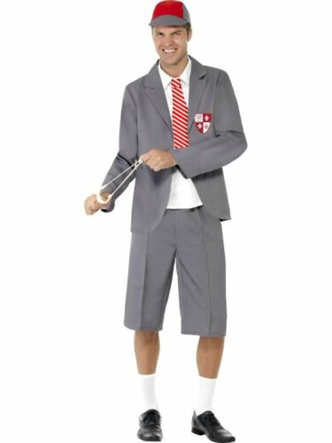 School Boy Mens Book Week Fancy Dress Stag Party Costume Outfit