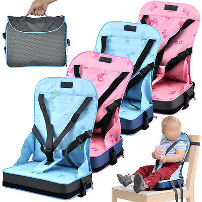 FALDABLE BABY BOOSTER SEAT TRAVEL CHAIR PORTABLE CAR TABLE TODDLERS CHILD 3Color