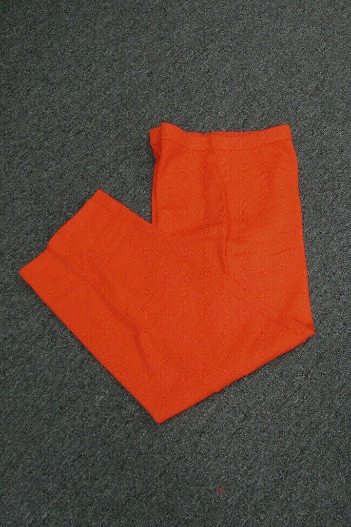 ST JOHN Burnt Orange Wool Pull On Solid Santana Knit Pants NWT Sz 8 GG4556