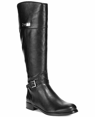 Auth COACH Micha Wide Calf Black Leather Tall EquestrianRiding Boots NIB  7, 8.5