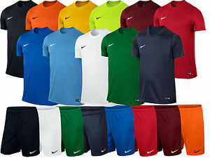 Nike-Park-Boys-Junior-Kids-Dri-Fit-Crew-Training-Gym-Football-T-Shirt-Top-Shorts
