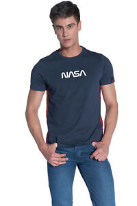 COURSE Herren T-Shirt Original Lizenz Nasa Kurzarm Rundhals Nasa-Logo Shirt NEU