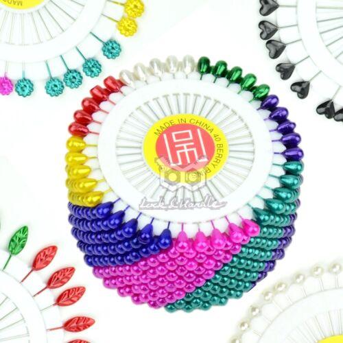 Snag Free Pearl Shimmer Scarf Hijab Pin Safety Pins Sewing Tailor Muslim Islamic