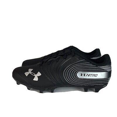 3000182-001 NEW Under Armour Nitro Low MC Football Cleats SZ 10.5 Black//Silver