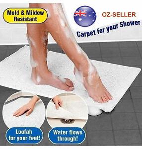 Anti Slip Loofah Shower Aqua Rug Bathroom Bath Mat Carpet ...