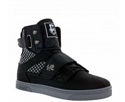 Vlado Footwear Men's Atlas II 2 Black/Grey Weaving Hi-Top Shoes IG-1500-W320