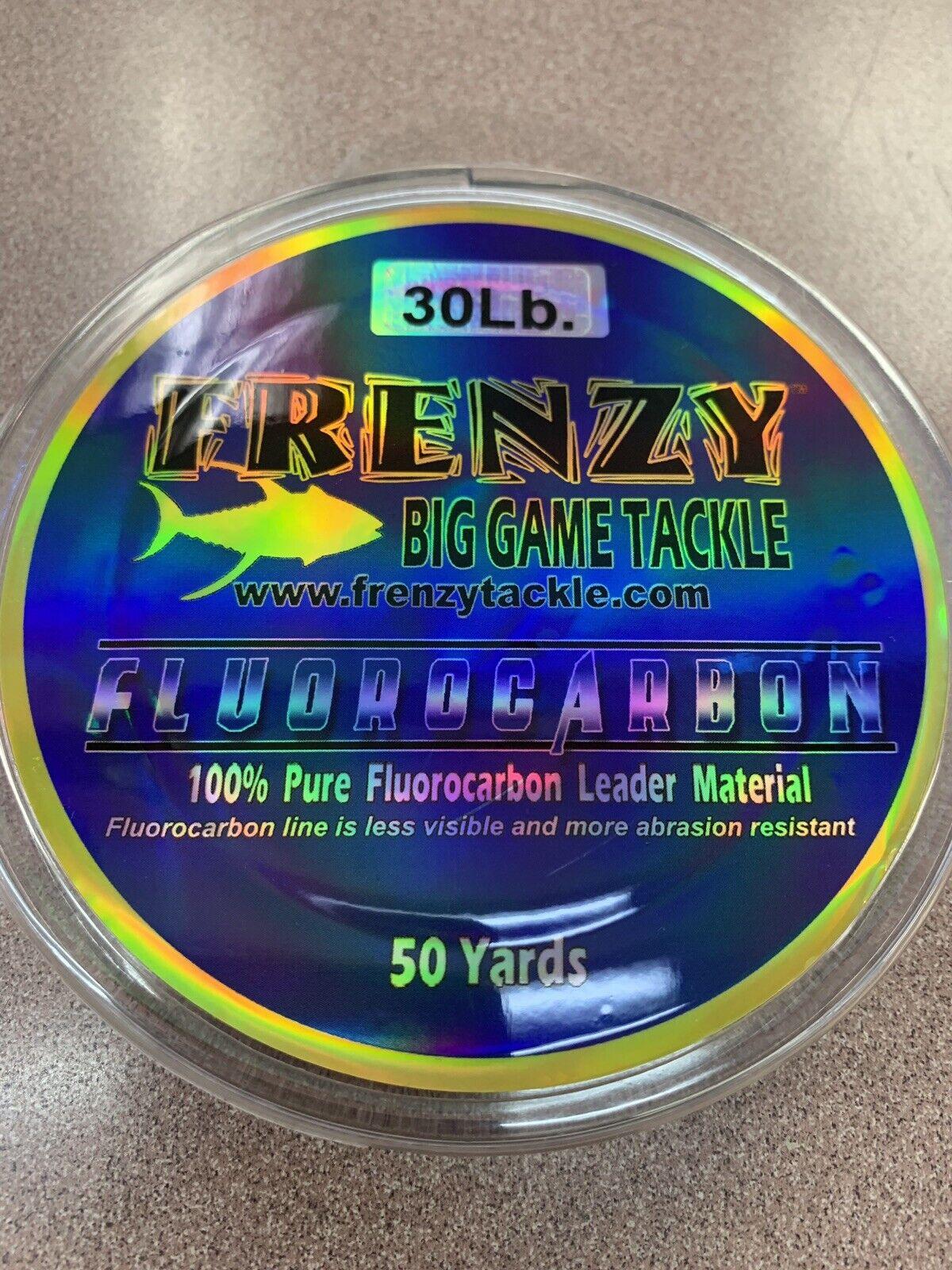 Frenzy Flugoldcarbon Leader 30Lb Clear 50 Yards - Reusable Spool - CL3050