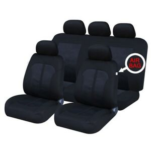 13 on FULL LEATHER LOOK CAR SEAT COVER SET BLACK LEXUS IS300H