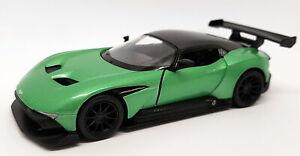 Aston-Martin-Vulcan-Verde-Kinsmart-Tire-hacia-atras-y-Go-Coche-Modelo-de-Metal
