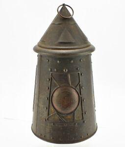 antique huntley amp palmers arts amp crafts lantern biscuit tin ebay