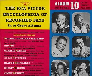 """RCA VICTOR ENCYCLOPEDIA OF JAZZ VOL 10  C. PARKER P.W. RUSSELL O. PETERSON 10"""""""
