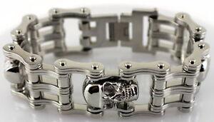Liefern Herren Alle Edelstahl 3 Totenkopf Motorradkette Armband 21.6cm Länge 2.5cm Den Menschen In Ihrem TäGlichen Leben Mehr Komfort Bringen