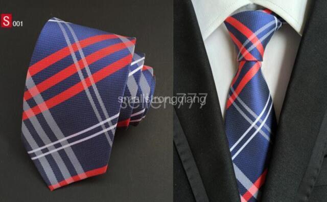 White Grid 3.4/'/' 100/% Silk Jacquard Classic Woven Wedding Man/'s Tie Necktie FS18