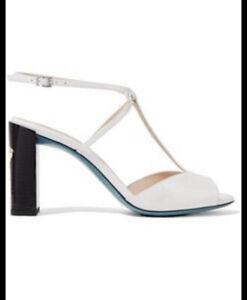 Fendi-Parent-Leather-T-Strap-Sandals-New
