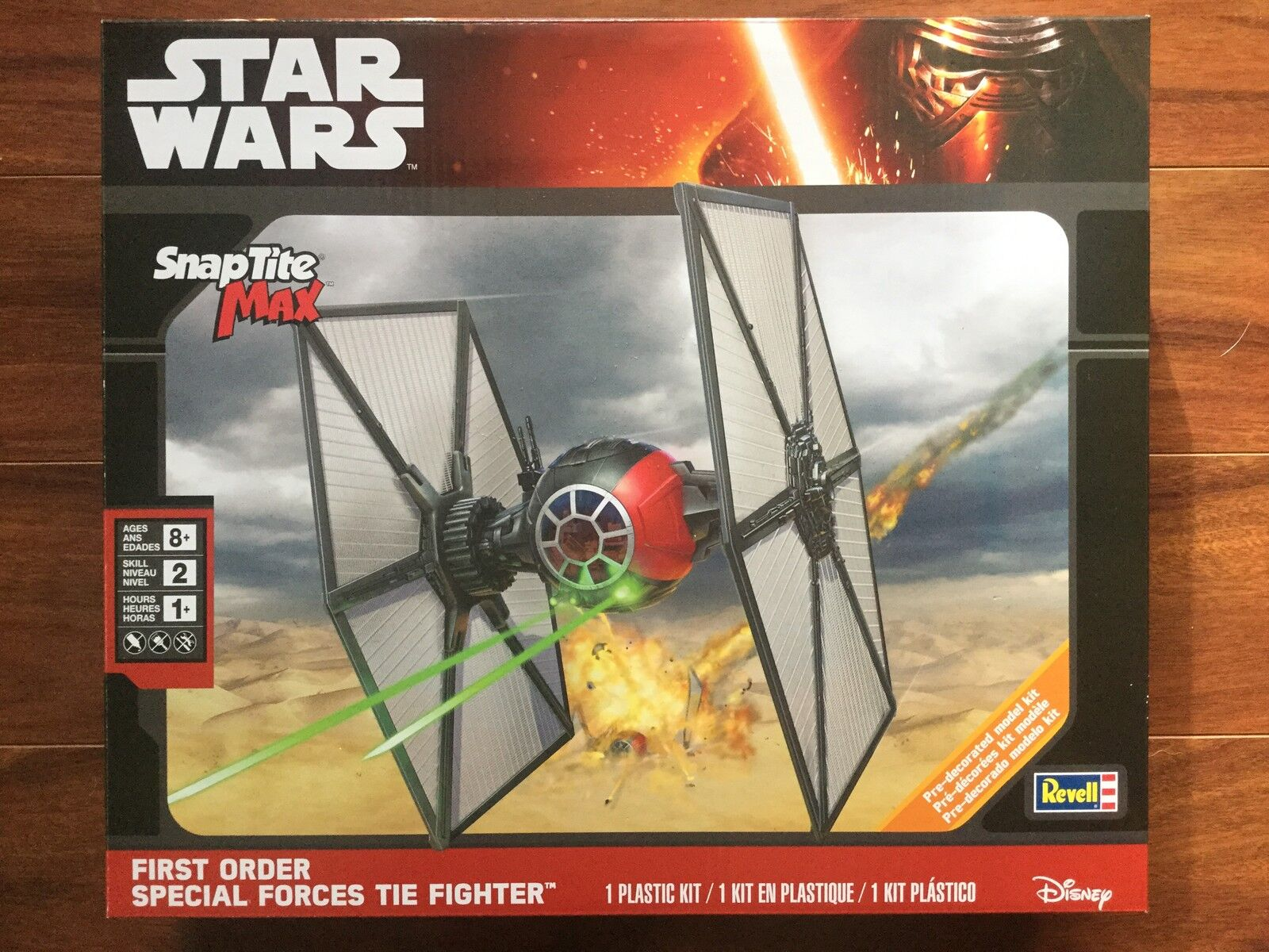 REVELL SNAP TITE MAX STAR WARS FIRST ORDER SPECIAL FORCES TIE FIGHTER 85-1824 FS