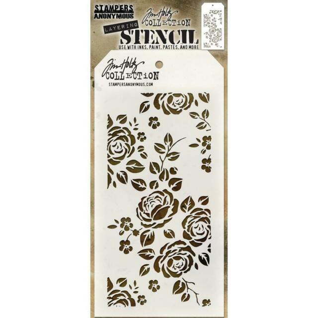 Tim Holtz Stampers Anonymous ROSES layering stencil Floral Flowers