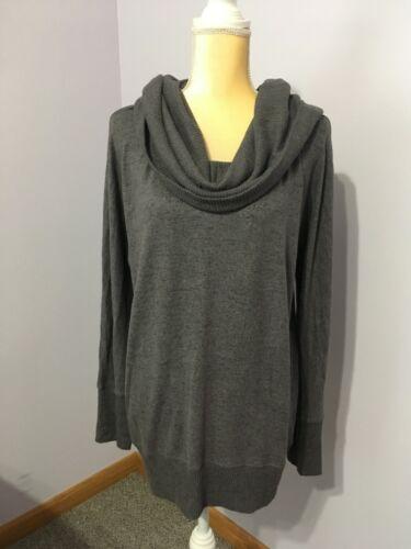SIMPLE PLEASURES Lavender Tint Gray Sweater Top Si