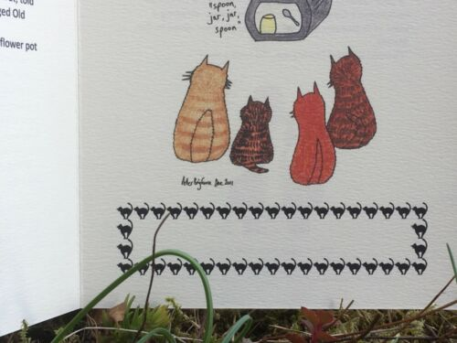 Card C5 Story card Ginger Nuts Pull A Leg #PeterBrighouseIllustrator #cats