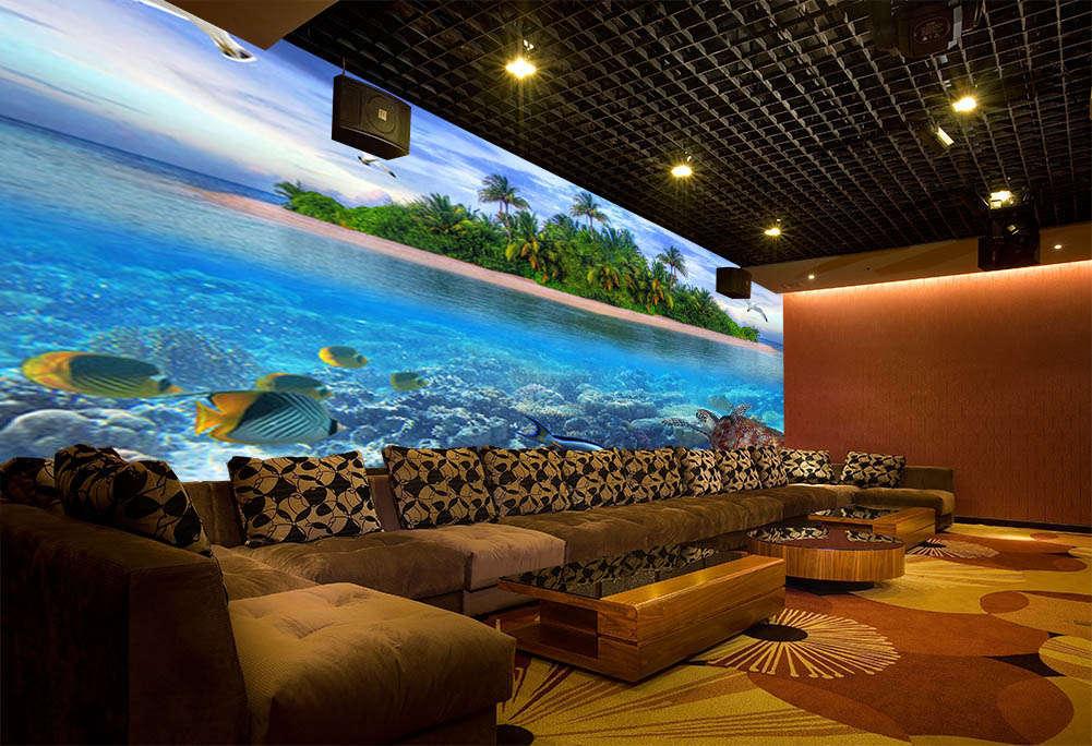 Island Animal World 3D Full Wall Mural Photo Wallpaper Printing Home Kids Decor