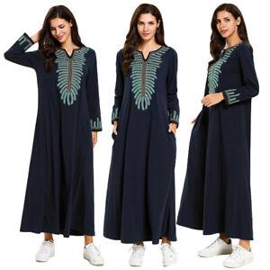 Muslim-Women-Long-Maxi-Dress-Robe-Abaya-Jilbab-Embroidery-Islamic-Ethnic-Dresses