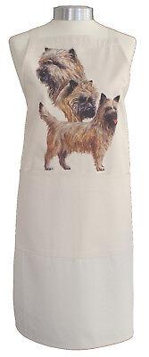 Cairn Terrier C Dog Cotton Apron Double Pockets Uk Made Baker Cook Gift Ebay