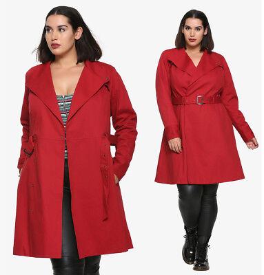 Mortal Engines Costume Carmen Sandiego, Red Trench Coat Women S Plus Size