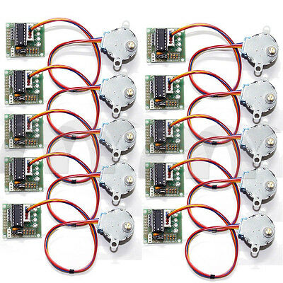 10 Pcs  DC 5V Stepper Step Motor + Driver Test Module Board ULN2003 For Arduino