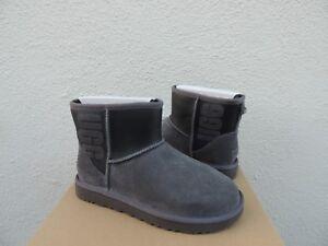 6a0da38b91f Details about UGG CLASSIC MINI UGG RUBBER SUEDE/ SHEEPWOOL BOOTS, WOMEN US  9/ EUR 40 ~NIB