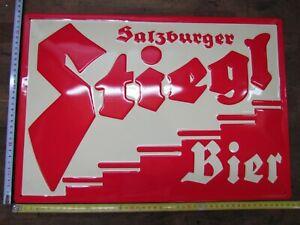 Blechschild-Stiegl-Bier-Salzburg-ca-34x49cm-Nostalgie-Retro