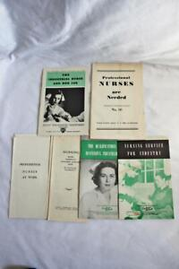 Group of 7 1940s Pamphlets and Booklets on Nursing-Industrial and Professional
