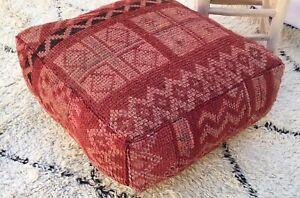 Moroccan-Handmade-Boujaad-carpet-Pouf