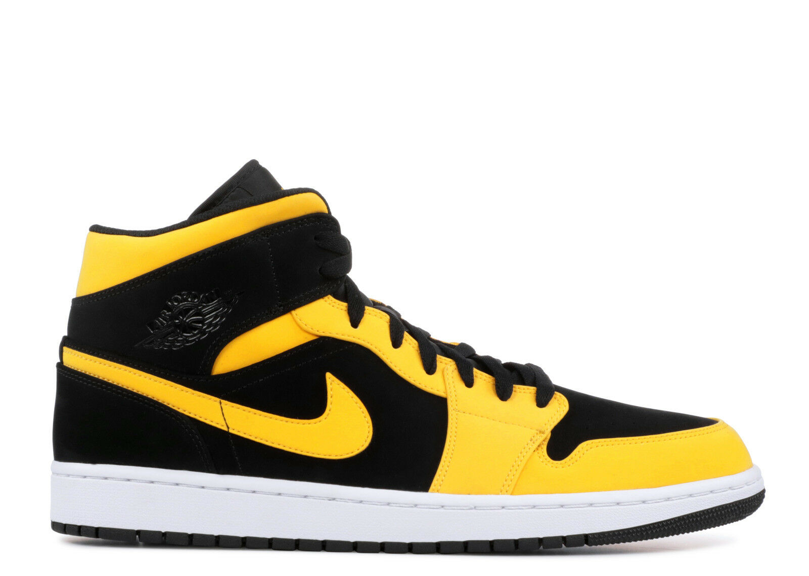 nike air jordan 1 mid black yellow strap
