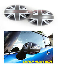 01-06 MINI Cooper/ ONE/ S MIRROR CAP COVER BLK UNION JACK LHD for France/Germany