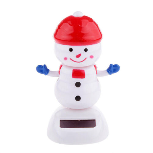 Solar Power Energy Toys Christmas Day Display Relief Stress Swing Automative