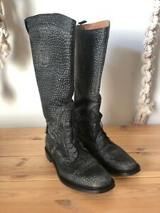 190591363d3 Image is loading Mens-Gucci-Riding-Boots-Motorcycle-Equestrian-Black-10