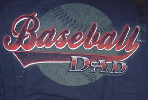 Baseball DAD TShirt Shirt Medium Cotton Black