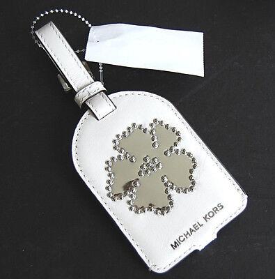 MICHAEL KORS Neu Charms silber Blume Koffer Anhänger Tasche weiß Leder withe | eBay