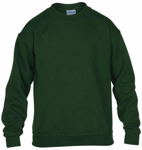 Gildan Heavy Blend Kids Crew Neck Youth Plain Sweatshirt Jersey Jumper 3//4-12//14