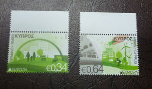 2016-CYPRUS-THINK-GREEN-SET-OF-2-MINT-STAMPS-MNH