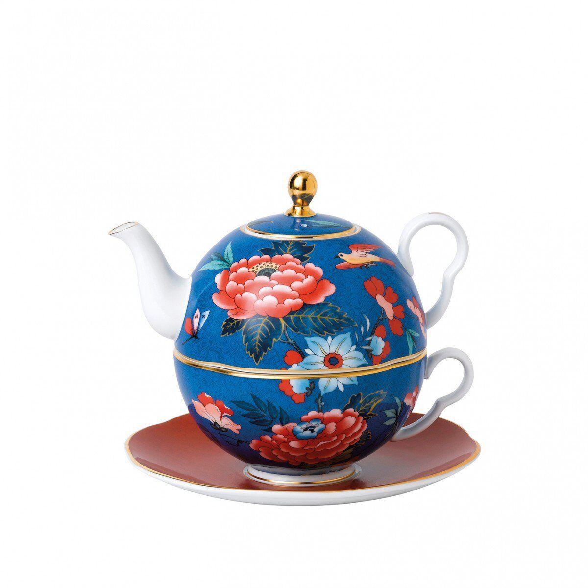 Wedgwood Paeonia bleush bleu & rouge Tea for one