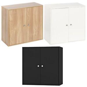 2-Tier-Wooden-Storage-Cabinet-Side-Furniture-Cupboard-Bedroom-Hallway-Shelf-Unit